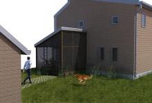 Eco House Back Yard